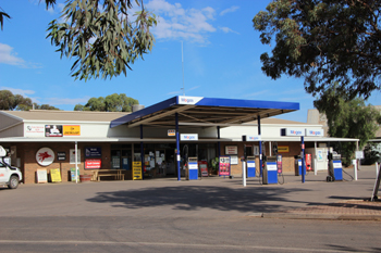 Hawker Motors for information, fuel, tyre repairs, books, maps and souvenirs.